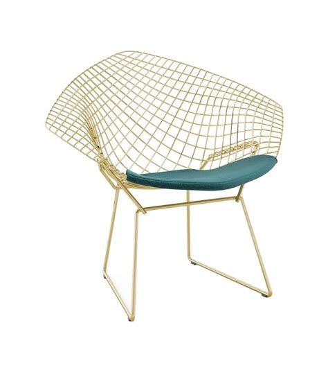 chaises bertoia bertoia knoll chair in gold milia shop