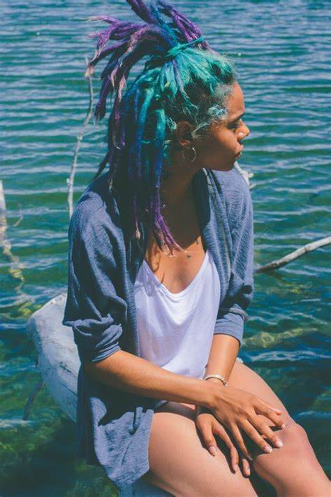 I Love Her Multicolored Dreads The Colors Are Gorgeous