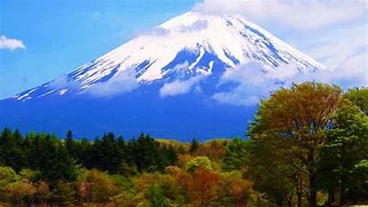 Fuji Japan Wallpapers Mount Mountain Travel Mountains