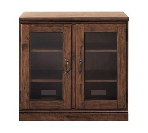 Printer's Double Glass Door Cabinet  Pottery Barn