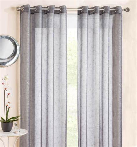Light Grey Curtains Eyelet by Marrakesh Eyelet Voile Panel Grey Free Uk Delivery