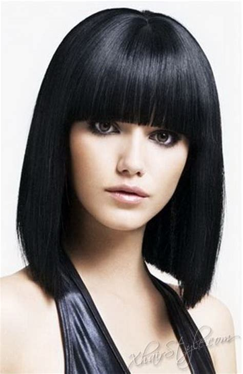 Hairstyles With Black And by Bangs Black Hairstyle