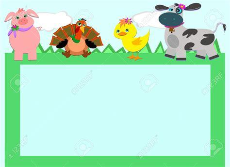 Farm Animal Wallpaper Border - baby farm animal clipart borders clipground