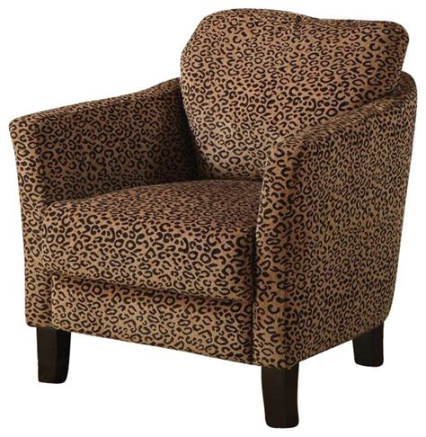 coaster club chair in cheetah print transitional