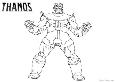 thanos coloring pages line art drawing printable for free