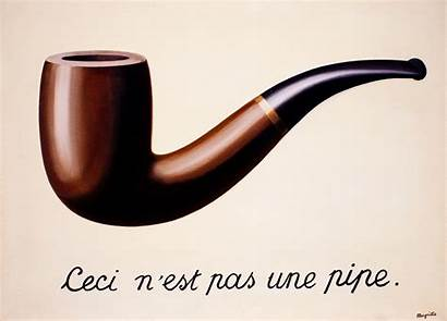 Magritte Rene Pipe Treachery Famous Most Paintings