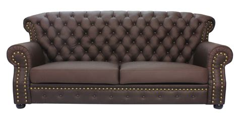 Half Sofa by Tydus Strusso Classical 3 Seater Half Leather Sofa