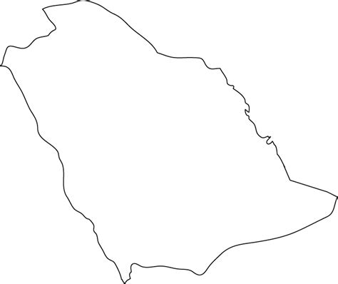 Saudi Arabia Outline Map