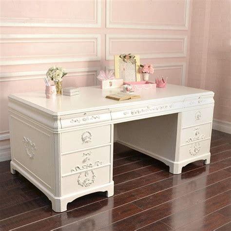 white shabby chic desk shabby cottage chic large white office executive desk 8