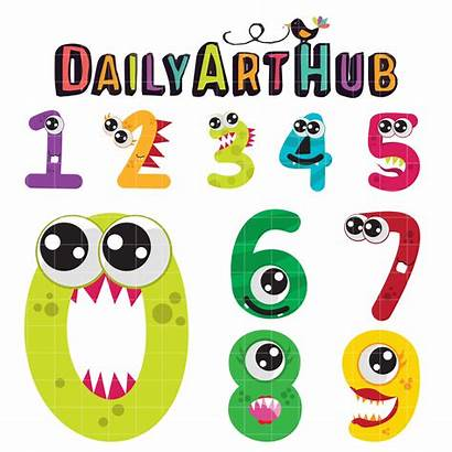 Numbers Monster Number Clip Daily Clipart Cartoons