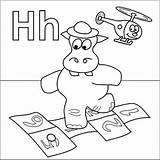 Hopscotch Hippo Coloringpages4u Coloringpages Activities sketch template