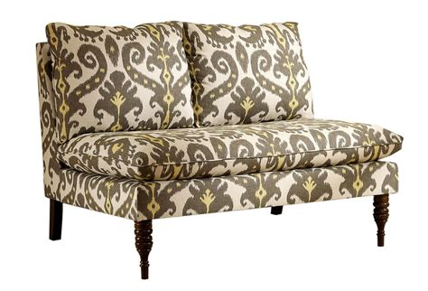 Yellow Settee by One Spotlight On Ikat Bacall Settee