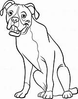 Boxer Coloring Dog Pages Cartoon Dogs Drawing Line Colouring Guard Terrier Boston Cowardly Clipart Happy Printable Sketch Getdrawings Courage Place sketch template