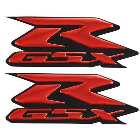 suzuki motorcycle emblem 2x red gsxr decals stickers for suzuki 600 750 1000 emblem