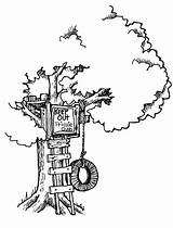 Coloring Tree Magic Pages Drawing Treehouse Simple Sheets Clipart Clip Houses Printable Boys Getdrawings Plans Landscapes Treehouses sketch template