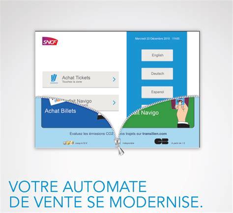 Contact Sncf Modification Billet by La Nouvelle Interface Des Automates De Vente