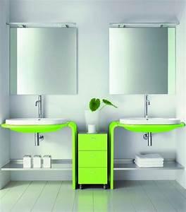 stunning salle de bain vert lime ideas amazing house With salle de bain design avec pomme verte décoration