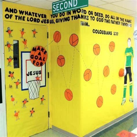 basketball themed door classroom decor ideas pinterest