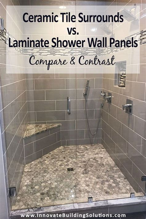 compare ceramic tile surrounds  laminate shower