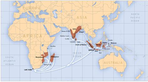 indian ocean slave trading routes map generated based