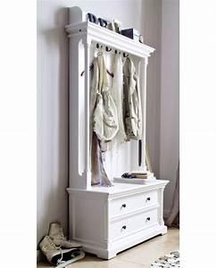 meuble d39entree blanc 5 portes manteaux With meuble d entree porte manteau