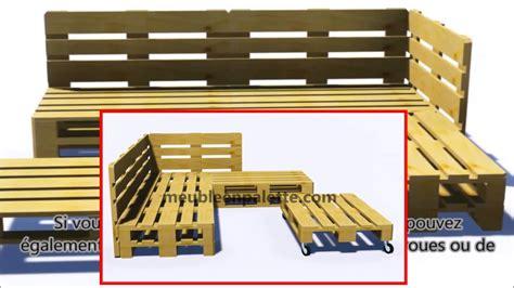 fabriquer canap d angle en palette comment construire un canapé de palette pour le jardin
