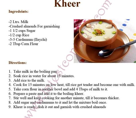 cooking recipe rice kheer easy cooking recipe