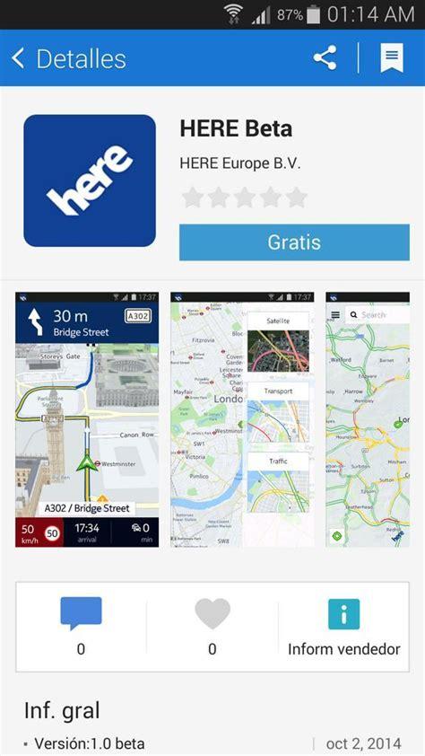 nokia s here maps beta listed samsung app store new apk v1 0 172 leaked sammobile
