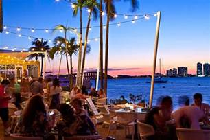 Restaurant Patio Tables by Rusty Pelican Key Biscayne Continental Seafood