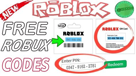 roblox codes  robux gift cards promo codes