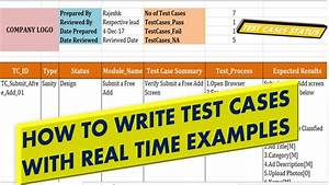 How To Write Test Cases Real Time Examples