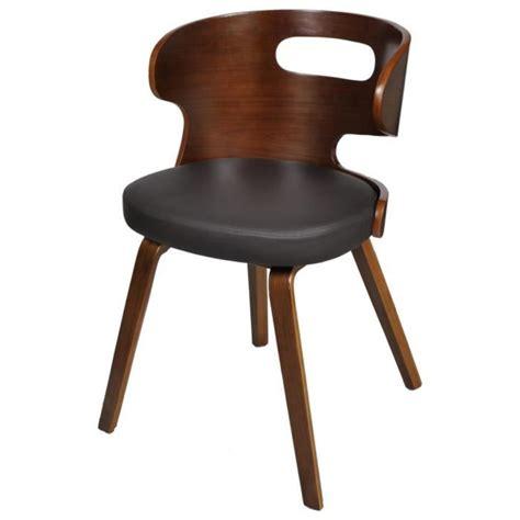 chaise salle a manger pas cher lot de 4 lot de 4 chaises de salle à manger en cuir mélangé brun