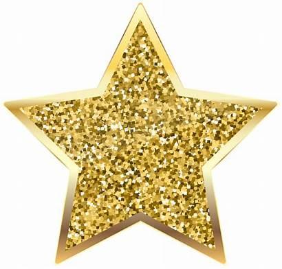 Glitter Transparent Clip Golden Stars Clipart Deco