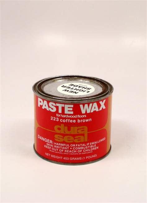 dura seal paste wax  wood flooring coffee brown pound