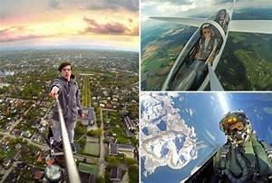 i migliori selfie al mondo? sulla bocca di un vulcano