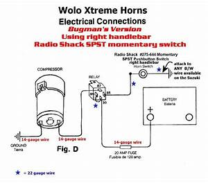 Air Horn Wiring Diagram Switch Dual Relay 12v Car Nitro Boat Motor With