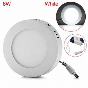 Ac v round led recessed panel ceiling flat