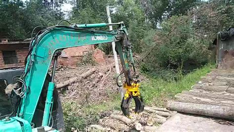 hydraulic log grapple mini excavator rotating wood grapple timber grapple buy timber grapple