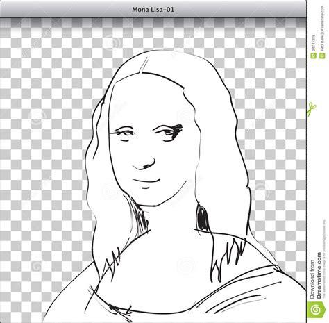 mona lisa sketch  dtp stock illustration image  blank