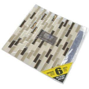 smart tiles muretto eco 10 20 in x 9 10 in peel and