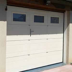 Porte De Garage Sectionnelle Avec Porte : porte de garage sectionnelle gmh ~ Edinachiropracticcenter.com Idées de Décoration