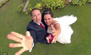 Off to a flying start meet the bride and groom who had for Best drone for wedding video