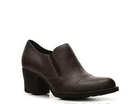 born anari  womens grey leather heels clogs bootie