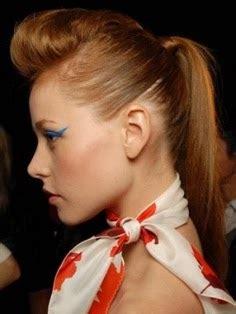 gorgeously pompadour ponytail hairstyle