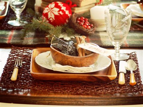 Rustic Winter Table-setting Ideas