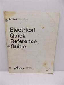 Ariens Electrical Quick Reference Guide Esm