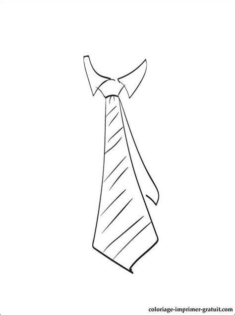 coloriage  dessin cravate  imprimer coloriage