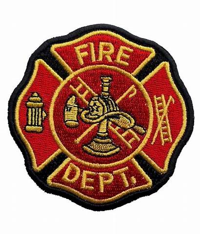 Fire Maltese Cross Department Patch Biker Embroidered