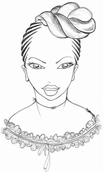 Coloring Pages Books Adult Colouring Hair Natural
