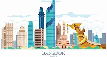 Thailand Bangkok Siam Clipart Building Skyline Euclidean